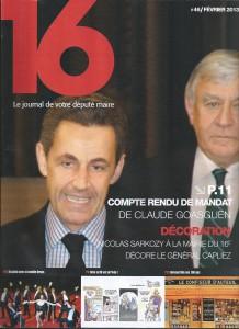 Photo trafiquėe - Goasguen se permet de laisser effacer la légion d'honneur de N Sarkozy en couverture de son journal de député -Maire dans Mes sites préférés page-de-couv-journal-fev-131-218x300