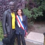 Jardin d'acclimation Anne Hidalgo et L Thuram