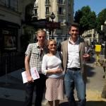 Auteuil 6 juillet Avec France et Michel