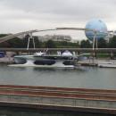 Planetsolar devant le parc André Citroën – un bateau solaire – le pari de l'innovation